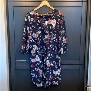 Reitman's long sleeve floral romper size XL